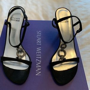 Stuart Weitzman Black Evening shoe.